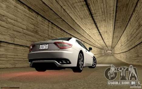 Maserati Gran Turismo 2008 para GTA San Andreas interior
