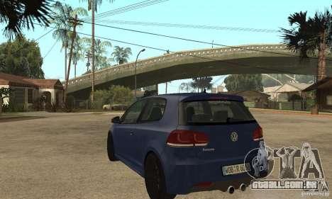 Volkswagen Golf Mk6 2010 para GTA San Andreas traseira esquerda vista