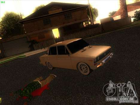 VAZ 2106 Tuning luz para GTA San Andreas vista traseira