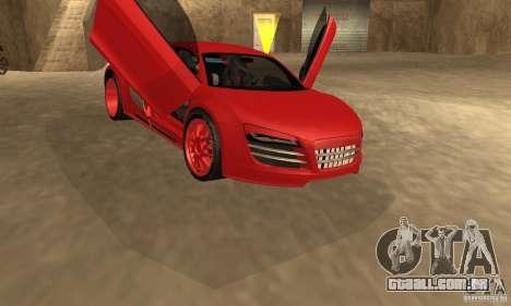 Audi R8 Custom para GTA San Andreas traseira esquerda vista