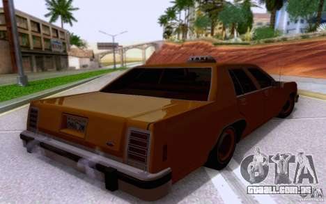 Ford Crown  Victoria LTD 1985 taxi para GTA San Andreas esquerda vista