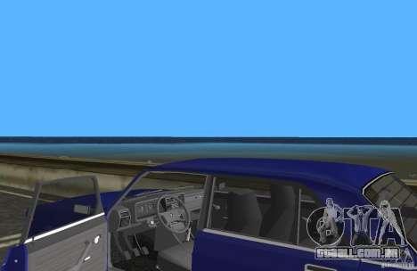 Carro LADA 2107 VAZ para GTA Vice City vista interior