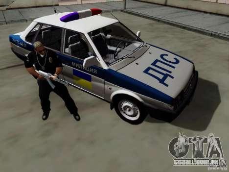 VAZ 21099, polícia para GTA San Andreas vista interior
