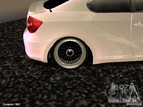 Toyota Scion para GTA San Andreas vista traseira