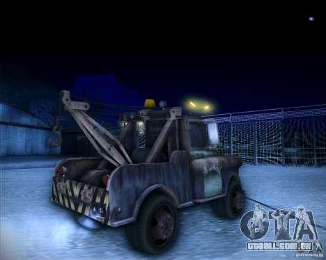 Car Mater para GTA San Andreas traseira esquerda vista