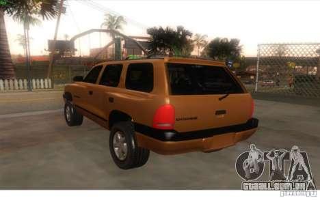 Dodge Durango 1998 para GTA San Andreas esquerda vista