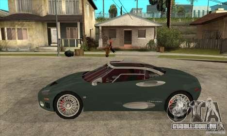 Spyker C8 Laviolete para GTA San Andreas esquerda vista