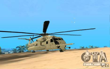 CH 53E para GTA San Andreas vista direita