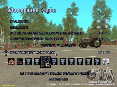 Adição à moda rádio Cinema para GTA San Andreas segunda tela