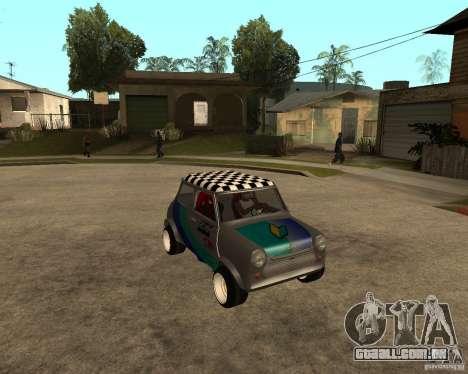 Mini Cooper para GTA San Andreas vista traseira
