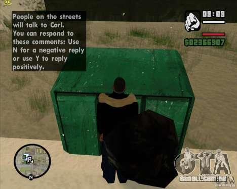 Faz um lixo para GTA San Andreas sexta tela