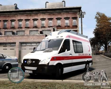 Mercedes Sprinter Turkish Ambulance para GTA 4