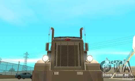 Peterbilt 379 Custom And Tanker Trailer para vista lateral GTA San Andreas