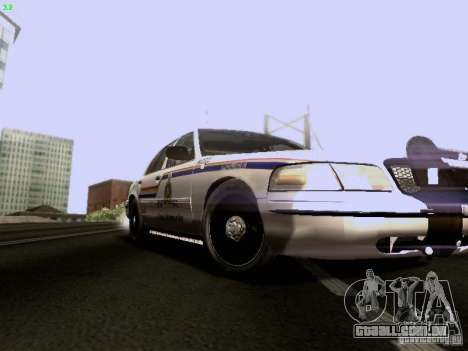 Ford Crown Victoria Canadian Mounted Police para GTA San Andreas vista traseira