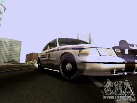 Ford Crown Victoria Canadian Mounted Police para GTA San Andreas vista traseira