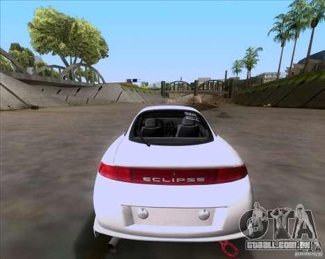Mitsubishi Eclipse para GTA San Andreas vista traseira