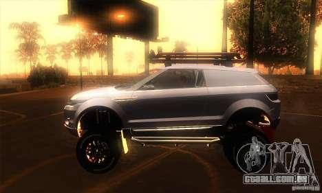 Land Rover Evoque para GTA San Andreas esquerda vista