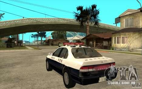 Nissan Cefiro A32 Kouki Japanese PoliceCar para GTA San Andreas vista interior