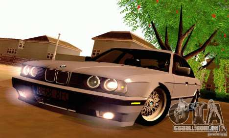 BMW E34 525i para GTA San Andreas vista interior