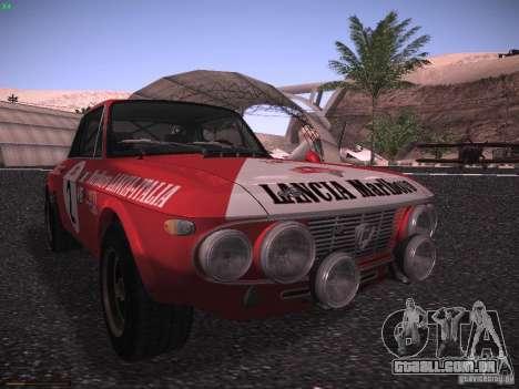 Lancia Fulvia Rally Marlboro para GTA San Andreas esquerda vista