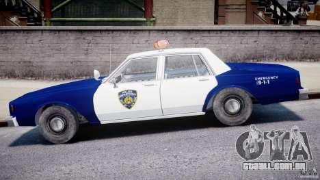 Chevrolet Impala Police 1983 para GTA 4 traseira esquerda vista