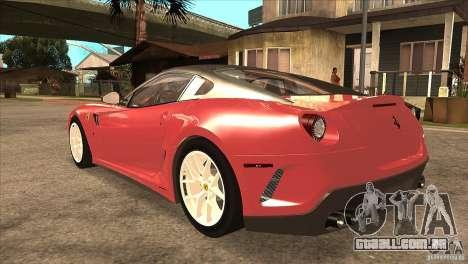 Ferrari 599 GTO 2010 V1.0 para GTA San Andreas traseira esquerda vista