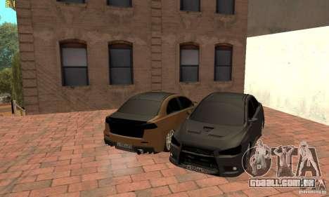 Mitsubishi Lancer Evolution Dag Style para GTA San Andreas vista direita