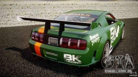 Ford Mustang GT-R para GTA 4 traseira esquerda vista