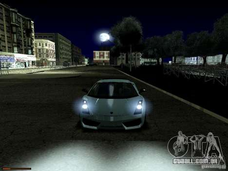 LibertySun Graphics For LowPC para GTA San Andreas por diante tela