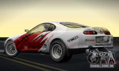 Toyota Supra JZA80 RZ Dragster para GTA San Andreas traseira esquerda vista