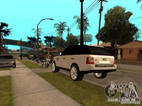 Range Rover Sport para GTA San Andreas vista traseira