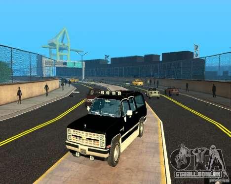 Сhevrolet 1986 Suburban para GTA San Andreas