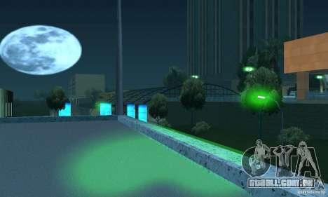 Luzes verdes para GTA San Andreas quinto tela