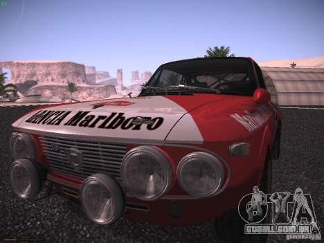 Lancia Fulvia Rally Marlboro para GTA San Andreas traseira esquerda vista