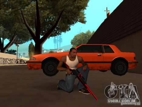 Red Chrome Weapon Pack para GTA San Andreas nono tela