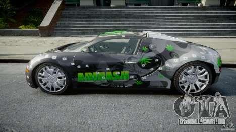 Bugatti Veyron 16.4 v1.0 new skin para GTA 4 esquerda vista