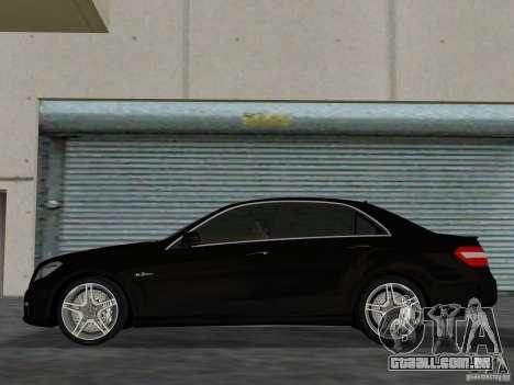 Mercedes-Benz E63 AMG para GTA Vice City vista traseira esquerda