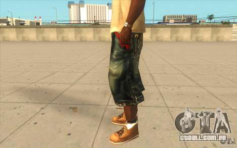 The BIG Makaveli Short Jeans para GTA San Andreas segunda tela