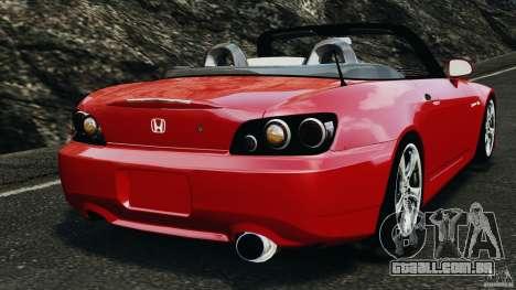 Honda S2000 v1.1 para GTA 4 traseira esquerda vista
