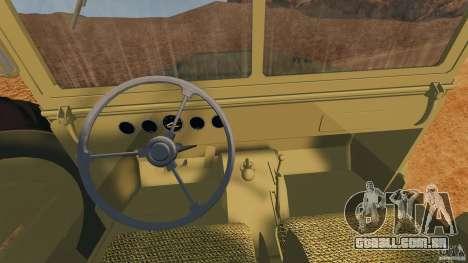 Dodge WC-62 3 Truck para GTA 4 vista de volta
