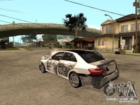 Mercedes-Bens e63 AMG para GTA San Andreas vista interior