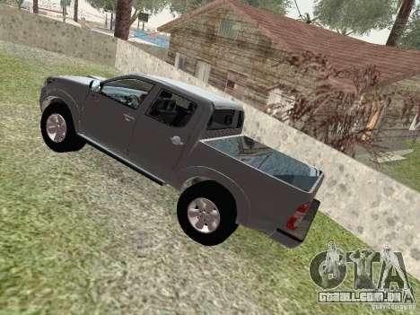 Toyota Hilux para GTA San Andreas vista traseira