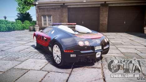 Bugatti Veyron 16.4 Police [EPM/ELS] para GTA 4 traseira esquerda vista