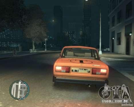 Táxi de 2105 VAZ para GTA 4 esquerda vista