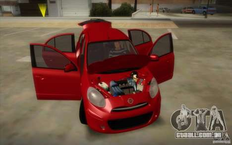 Nissan Micra 2011 para GTA San Andreas vista interior