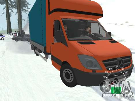 Mercedes-Benz Sprinter 518 MAXI 2007 para GTA San Andreas vista superior