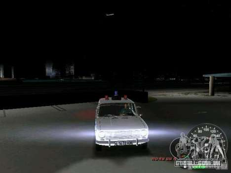 Polícia de 2101 VAZ para GTA Vice City vista superior