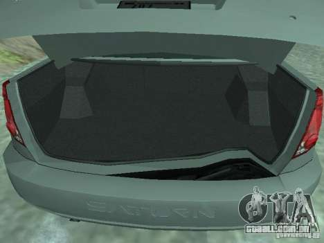 Saturn Ion Quad Coupe 2004 para GTA San Andreas vista traseira