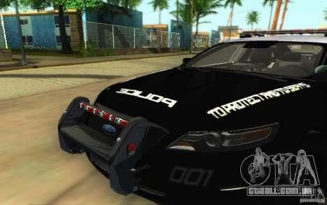 Ford Taurus 2011 LAPD Police para GTA San Andreas vista interior
