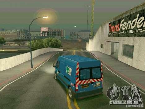 Renault Master para GTA San Andreas traseira esquerda vista